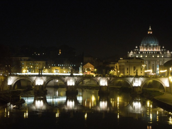 Rome, Italy: Tibor River & St. Peter's Basilica, Vatican City. Taken on my dream vacation/honeymoon Dec. 2011