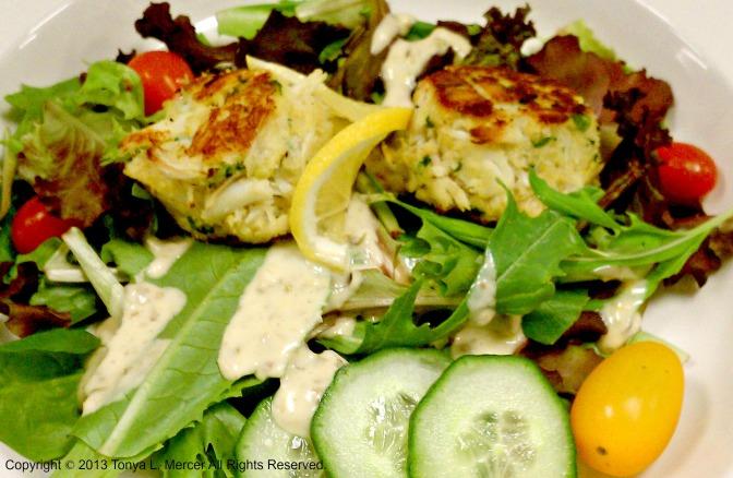 Lemon Crab Cake Salad 2