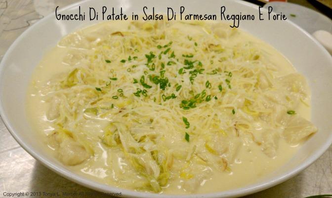 Gnocchi in Asiago Parmesan Cream Sauce w Leeks